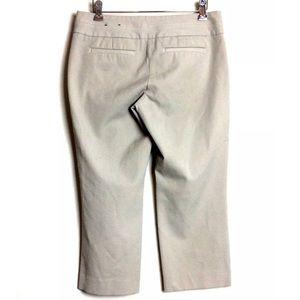 EXPRESS Editor Khaki Capri Pants Preppy Straight 6